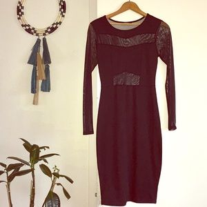 Women's black midi dress